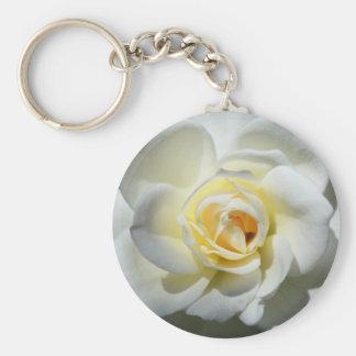 Weiße Hochzeits-Rosen-Schlüsselkette Schlüsselanhänger
