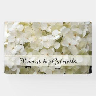 Weiße Hydrangea-Hochzeit Banner