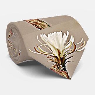 Weiße Kaktus-Blüten-Krawatte Krawatten