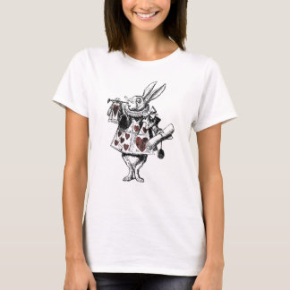 Weiße Kaninchen der Herzen - Alice im Wunderland T-Shirt