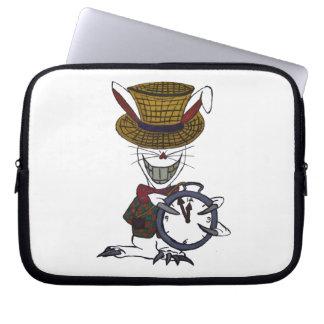 Weiße Kaninchen-Neopren-Laptop-Hülse 10 Zoll Laptop Computer Schutzhüllen