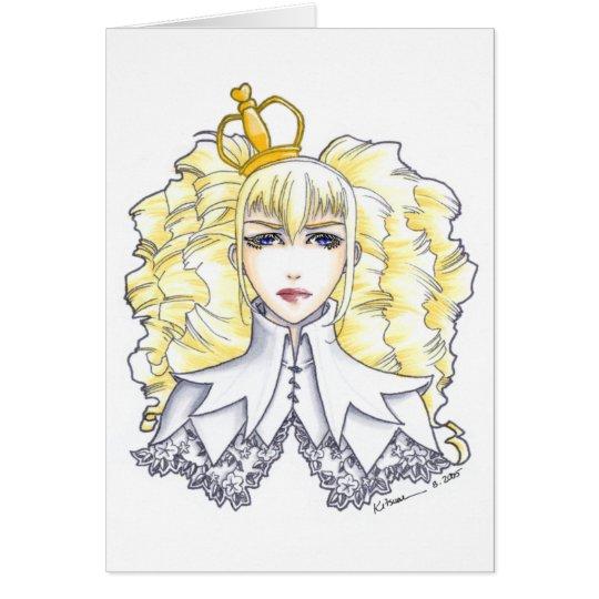 Weiße Königin Grußkarte