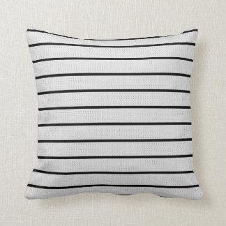 Weiße Linie Dekor-Weiche moderne Kissen
