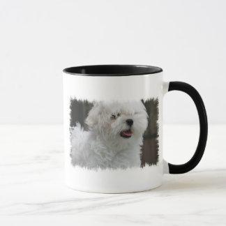 Weiße maltesische Welpen-Kaffee-Tasse Tasse