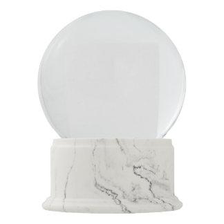 Weiße Marmorendschnee-Kugel Schneekugel