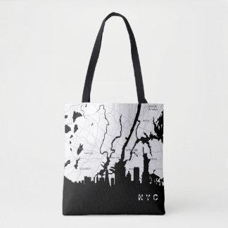 Weiße New- Yorkkarte Tasche