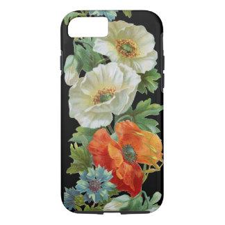 Weiße orange Mohnblumen-Vintager Kunst iPhone 7 iPhone 7 Hülle