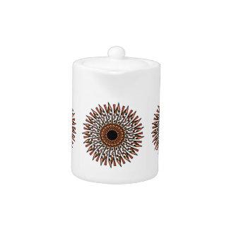 Weiße orange Stern-Entwurfs-Teekanne TANs