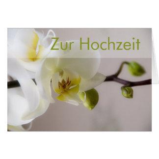 Weisse Orchidee • Glueckwunschkarte Hochzeit Karte