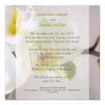 Weiße Orchidee • Hochzeitseinladung Quadratische 13,3 Cm Einladungskarte