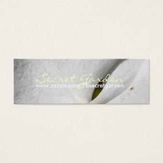 Weiße Orchideen der Seide-(2) - - Visitenkarten