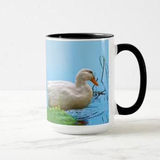 Weiße Pekin Enten-Tasse Tasse