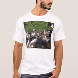 Weiße Pelikane T-Shirt