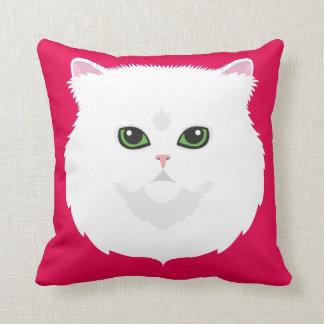 Weiße persische Katze Kissen