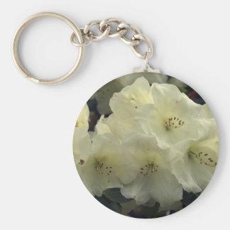 Weiße Rhododendron-Geschenke Schlüsselanhänger