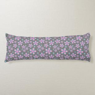 Weiße rosa Blume Textur Karosserieteile Seitenschläferkissen