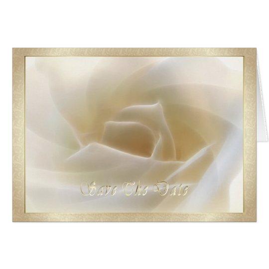 "Weiße Rose ""Save the Date"" Karte"