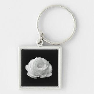 Weiße Rose Schlüsselanhänger