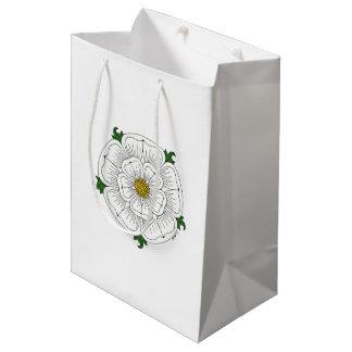 Weiße Rose von York Mittlere Geschenktüte