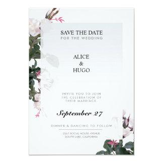 White Rose Flowers Love Wedding Card