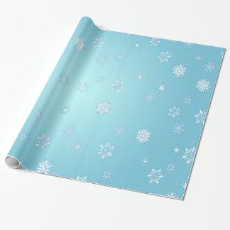 Weiße Schneeflocken Geschenkpapier