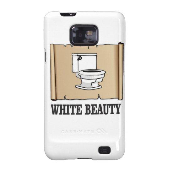 weiße Schönheitstoilette Galaxy S2 Cover