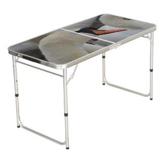 Weiße Schwan-Heckklappen-Größe Pong Tabelle Beer Pong Tisch