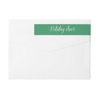 Weiße Skript-Feiertags-Beifall-Adressen-Etiketten