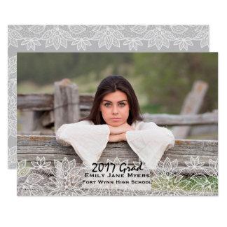 Weiße Spitze-Foto-Abschluss-Mitteilung 12,7 X 17,8 Cm Einladungskarte