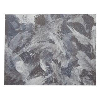Weiße Tinte auf Brown und blauem Hintergrund Schmierblöcke