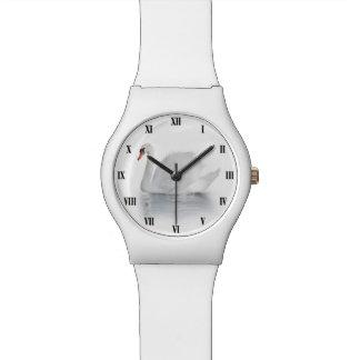 Weiße Uhr des Schwan-May28th
