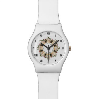 Weiße Uhr Rosewreath-May28th