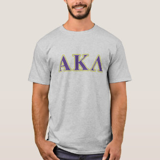 Weiße und lila Buchstaben Alphakappa-Lambdas T-Shirt