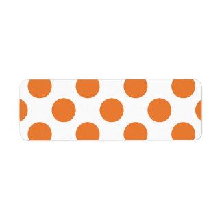 Weiße und orange Tupfen Rücksende Aufkleber