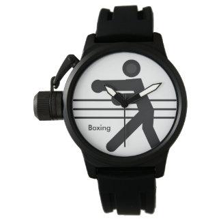 | weiße und schwarze Ikone EINPACKEN Uhr
