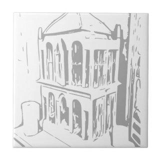 Weiße Vogel-Käfig-Papier-Teller-Keramik-Fliese Kleine Quadratische Fliese