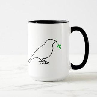Weiße Vogel-und Zweig-Tasse Tasse