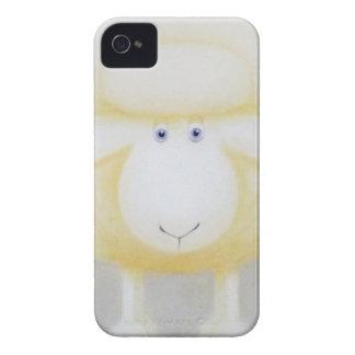 Weiße wollige Schafe für Mutterschaf Case-Mate iPhone 4 Hülle