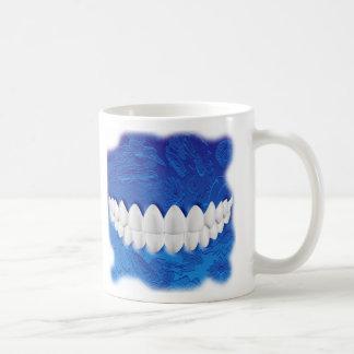Weiße Zahn-Biss-Zahnarztorthodontist-Tasse Tasse