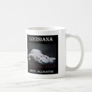 Weißer Alligator Louisianas neu Kaffeetasse