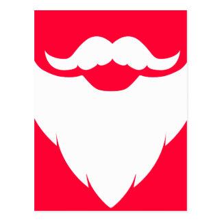 Weißer Bart Sankt und rote weiße Postkarte des