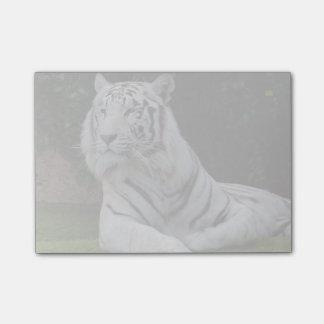 Weißer bengalischer Tiger Post-it Klebezettel