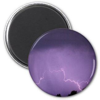Weißer Blitz Runder Magnet 5,7 Cm