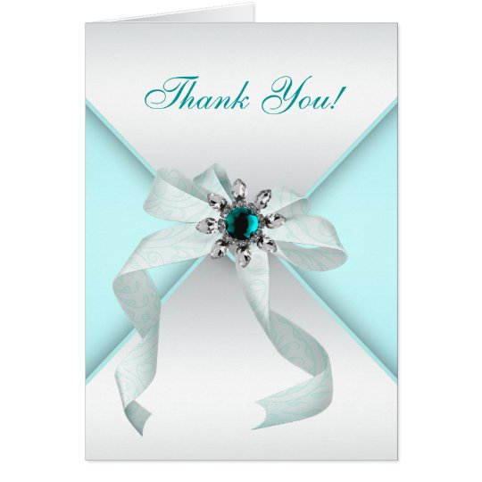 Weißer Bogen-aquamarines Blau dankt Ihnen Karten