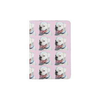 Weißer Boxerhund Passhülle