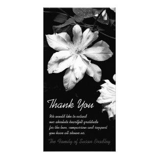 Weißer Clematis -1 - Beileid danken Ihnen Fotokartenvorlage