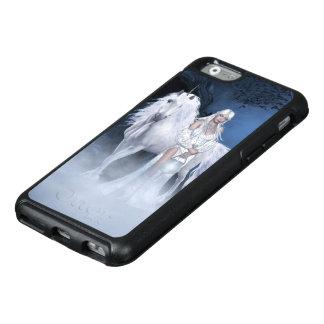 Weißer Dame und Einhorn OtterBox iPhone 6 Kasten OtterBox iPhone 6/6s Hülle