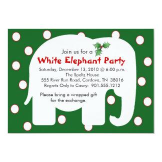 Weißer Elefant-Feiertags-Party Einladungen