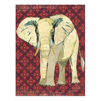 Weißer Elefant-Postkarte Postkarte