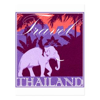 Weißer Elefant Reise-Thailands Postkarte